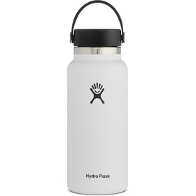 Hydro Flask Wide Mouth Drinkfles met Flex Cap 946ml, white